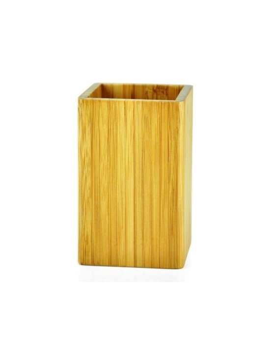 Imported - Bamboo Tumbler In Mediterranean Style - Bamboo bathroom accessories of Mediterranean Design Collection