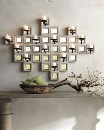 Limestone Candle Sconce contemporary-candles-and-candleholders
