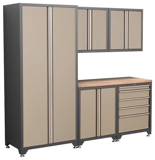 Coleman 6 Piece Garage Cabinet Kit - Modern - Storage And Organization - other metro - by Garage ...