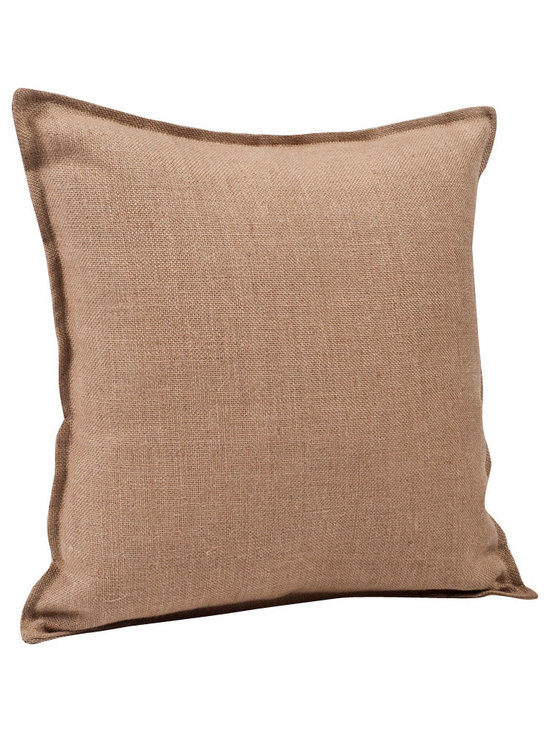 ecoaccents Natural Washed Burlap Pillow