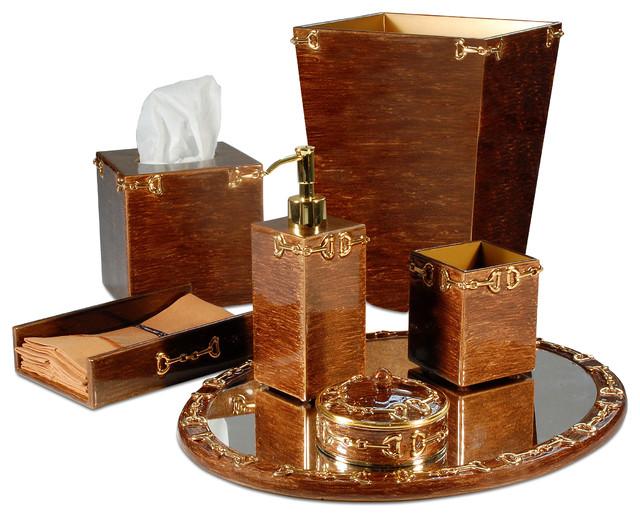 hampton bronze bathroom set bathroom accessories chicago by belle and june. Black Bedroom Furniture Sets. Home Design Ideas