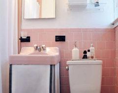"Pink Tile Bathroom Paint Color: color scheme and ideas to ""fix"" a pink ..."