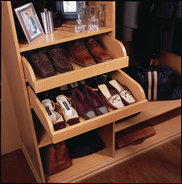 Pull-out Shoe Drawer - Contemporary - Closet - other metro ...