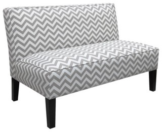 Zigzag Armless Settee, Gray - Contemporary - Sofas - by Target