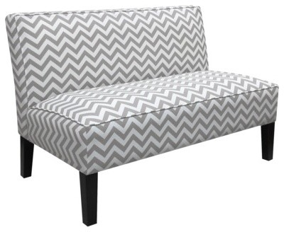 Zigzag Armless Settee Gray Contemporary Sofas By Target