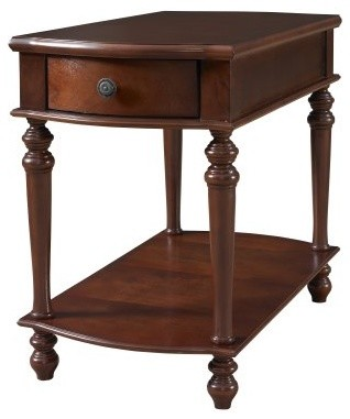 Powell Cherry Chairside Table with Drawer modern-side-tables-and-end-tables