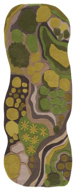Woods, Hand-tufted Wool Pathways Rug modern-rugs