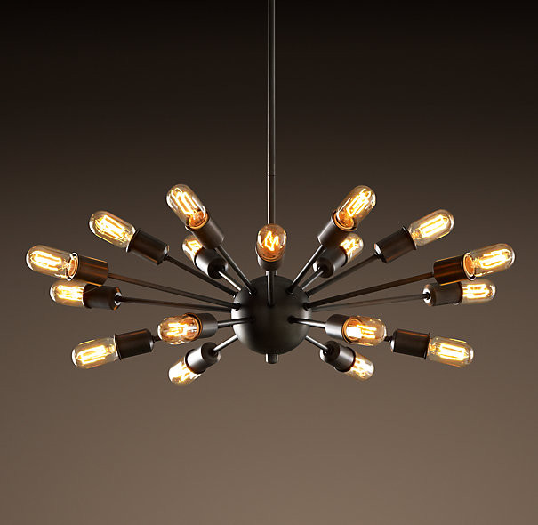 sputnik elliptical filament chandelier chandeliers. Black Bedroom Furniture Sets. Home Design Ideas