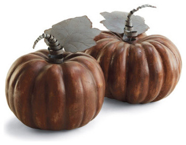 "Autumn Spice Pumpkin - 13"" dia. traditional-holiday-decorations"