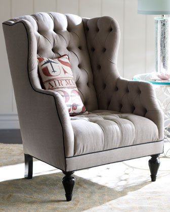 Air Mail Tufted Chair traditional-armchairs