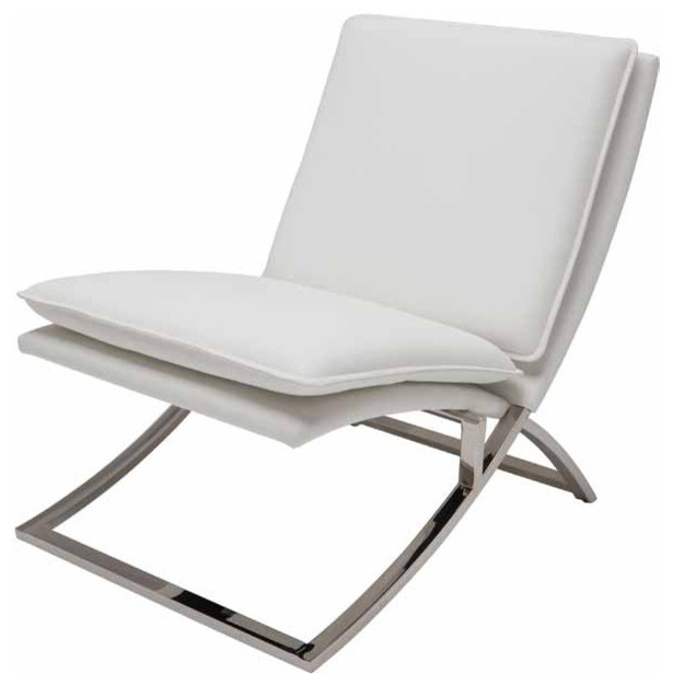 Neo Lounge Chair White Contemporary Armchairs And Accent Chairs by Inmod