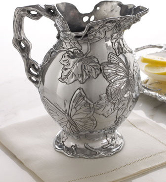 Arthur Court Butterfly Pitcher traditional-wine-and-bar-tools