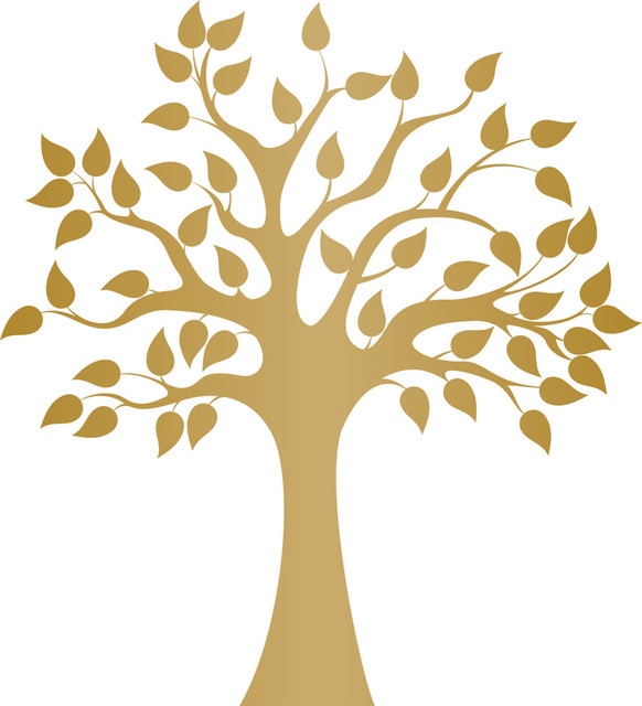 modern golden tree wall decal contemporary wall decals