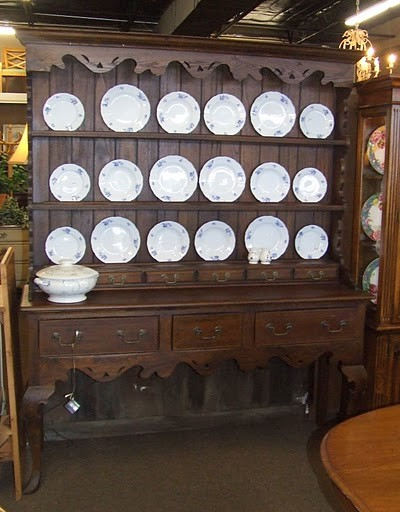 Large French Country China Cabinet / Hutch eclectic-buffets-and-sideboards