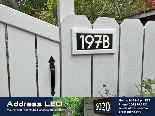 Address LED - illuminated house numbers - Traditional - House Numbers - seattle - by Address LED