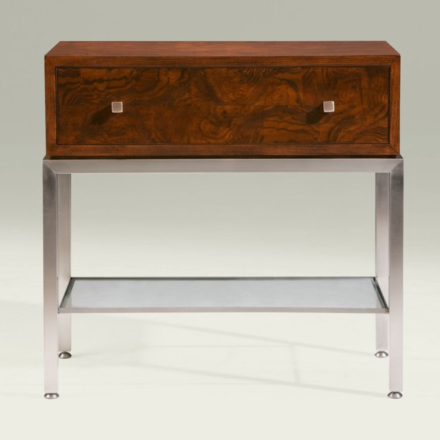 modern glamour ross end table traditional nightstands and bedside tables