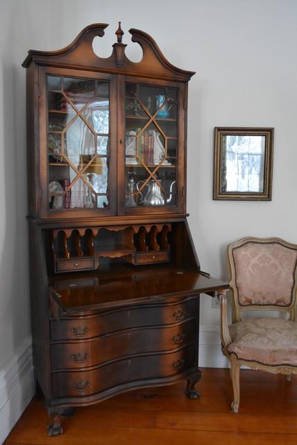 Stylish Vintage Secretary Bookcase traditional-bookcases