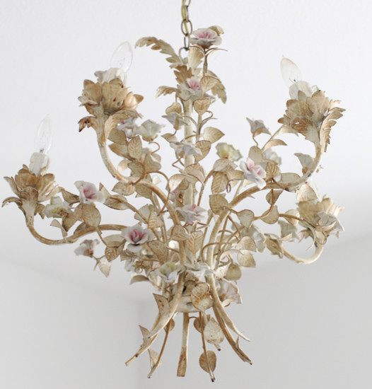 Antique French Tole Chandelier Shabby Chic Chandeliers