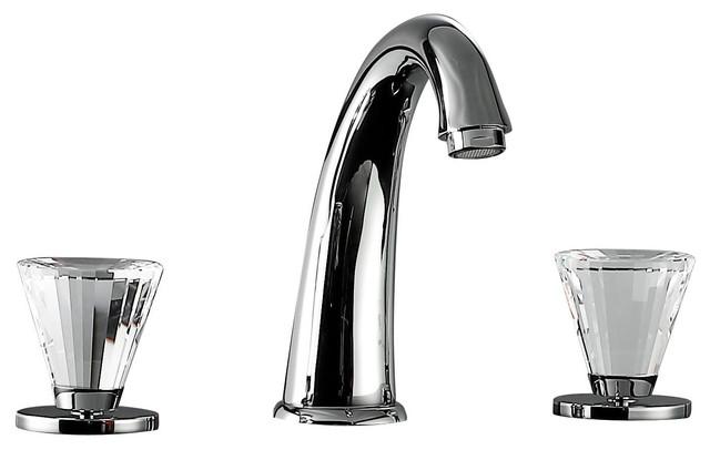 Bathroom Faucet W/ Big Swarovski Crystal. Polished Chrome