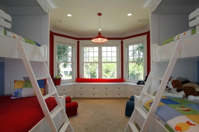Bunkbeds and matching window seat by David Starry for the William C Pritchard Co