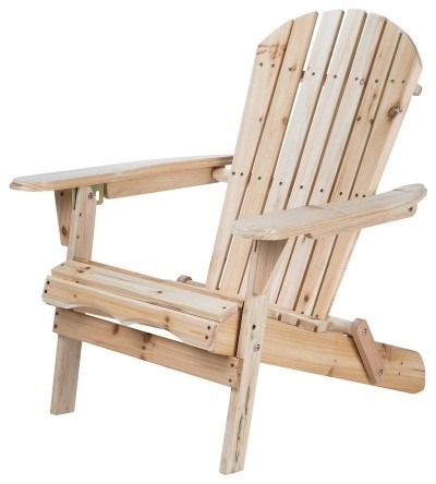 Merry garden folding adirondack chair traditional for Chaise adirondack bois