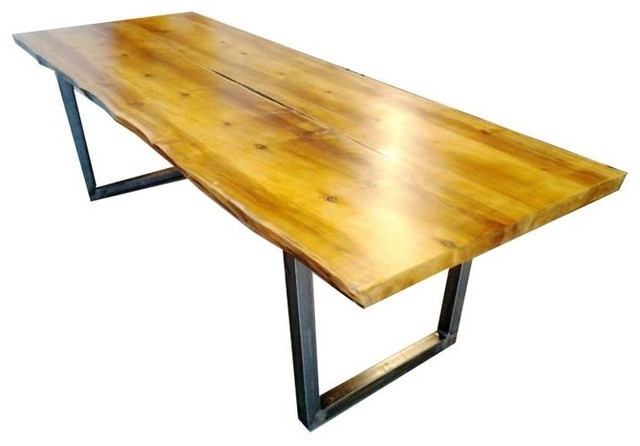Modern Reclaimed Wood Slab Dining Table