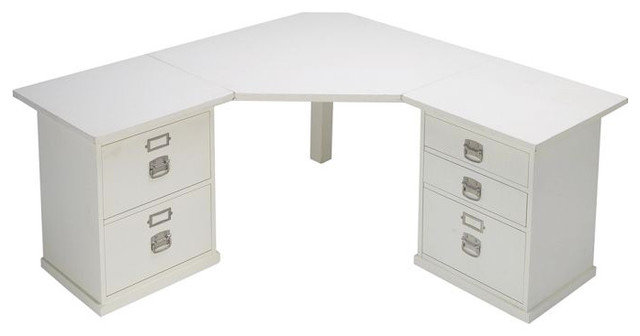 Bedford Corner Desk Set - Traditional - Desks And Hutches - by Pottery Barn
