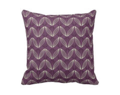 Varney in Plum Throw Pillow traditional pillows