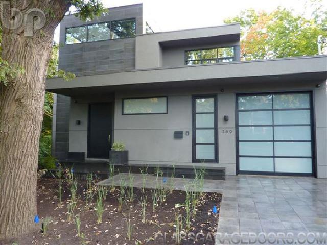 BP-450 Powder Coated Glass Garage Door - Modern - Garage Doors And Openers - other metro - by bp ...