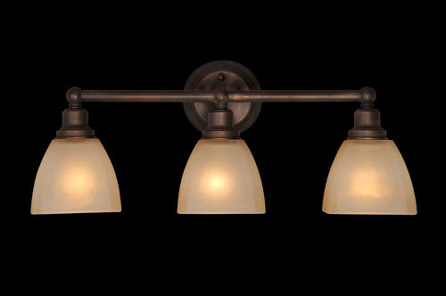 Bradley Bronze Three Light Vanity modern-bathroom-vanity-lighting