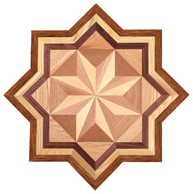 Oshkosh designs crescent inlay medallion traditional for Floor inlay designs
