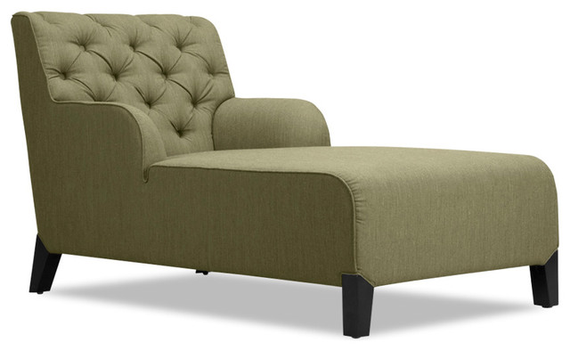 Southwark Green Chaise Longue Armchair Modern Indoor Chaise Lounge Chairs