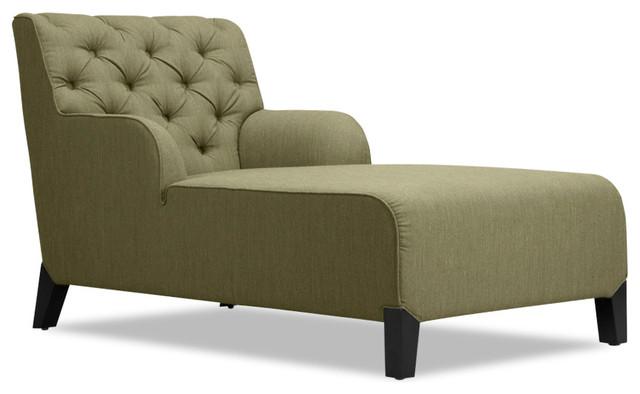 Southwark Green Chaise Longue Armchair - Modern - Indoor ...