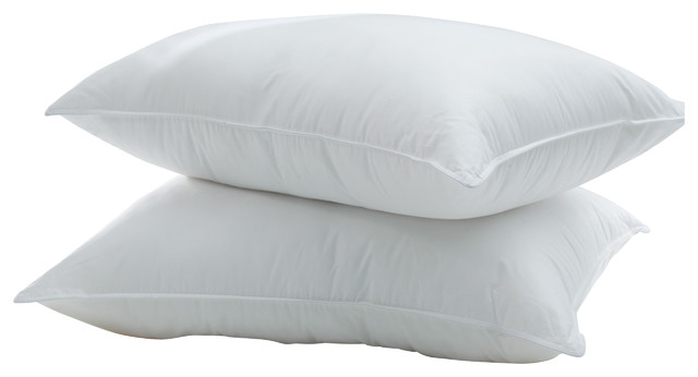Silky Cotton Sateen Pima Down Pillow, Standard traditional-bed-pillows
