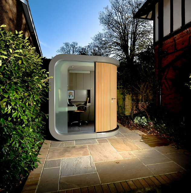 Officepod contemporary prefab studios by officepod for Prefabricated garden rooms