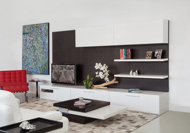 Moderna Modular TV Unit Wengue - Modern - Entertainment Centers And Tv Stands - miami - by MH2G