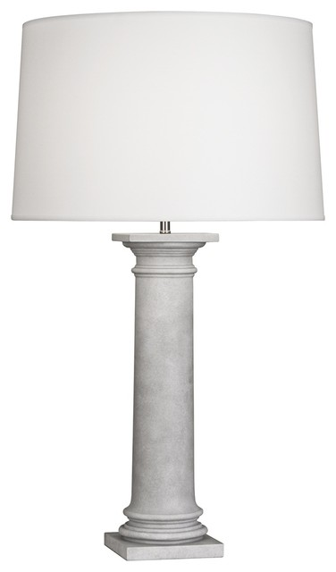 Transitional Robert Abbey Phoebe Concrete and White Table Lamp modern-table-lamps