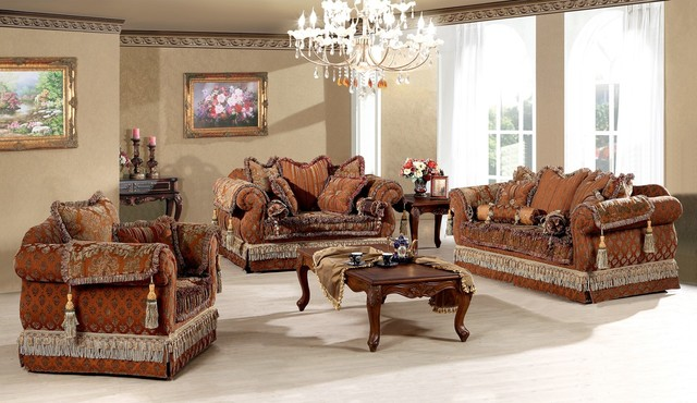 Genevieve Luxury Living Room Sofa Set Traditional Living Room Furniture Sets Dallas By