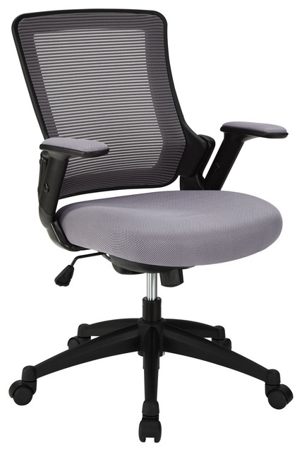 View Office Chair with Mesh Back and Gray Padded Seat modern-task-chairs