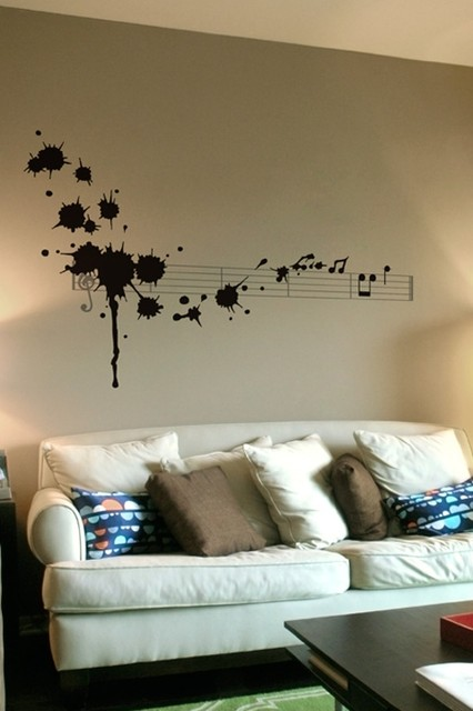 Splatter in D Minor Wall Decal modern decals