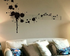 Splatter in D Minor Wall Decal modern-wall-decals