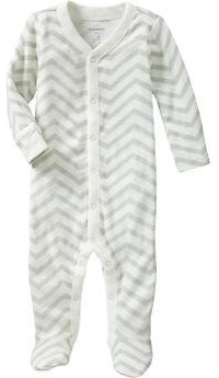 Printed Footed One-Pieces for Baby, Gray Zebra modern-kids-products