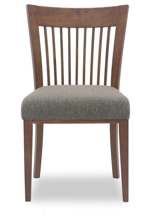 Bryght - Sandy Hazel Fabric Upholstered Dining Chair - The Sandy dining chair showcases a simple time honored linear slat back design, that is a treat for the trendy and traditional household alike. Gently curved back and a plush seat provides adequate support for the back for a relaxed sit. The Sandy dining chair is perfect for everyday use or dinner parties.