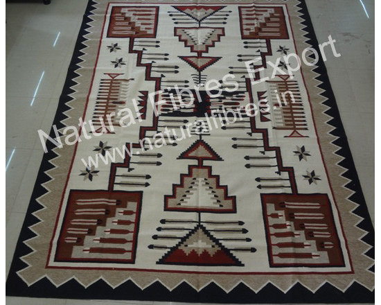 Natural Fibres Export : Fine Furnishing Products - Wool Cotton Rug manufacture by Natural Fibres Expor