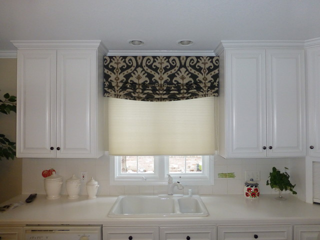 Relaxed roman valance contemporary detroit by exciting windows by couture by karen inc - Modern valances for kitchen ...