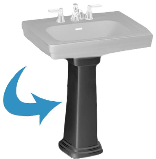 Toto lPT530N Ebony Promenade Pedestal Only - Transitional - Bathroom Sinks - by PlumbersStock