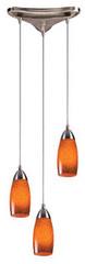 Elk Lighting 110-3 Art Deco / Retro Multi Light Pendant from the Milan Collectio