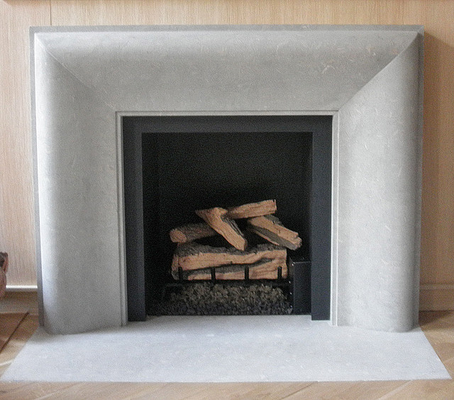 Gas Burner and Log Set contemporary-indoor-fireplaces