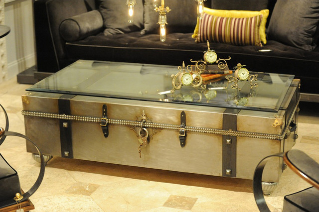 Industrial Chic Industrial Coffee Tables Other Metro By Woodland Creek Furniture