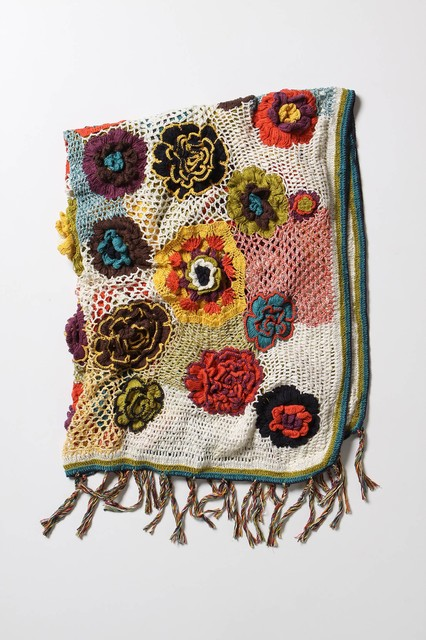 Quirky Heirloom Throw eclectic-throws